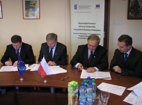 """podpisanie umowy o dofinansowanie projektu """"Program poprawy czystości zlewni rzeki Wisłoki – Etap II"""""""