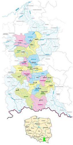 mapa gmin należących do ZGDW